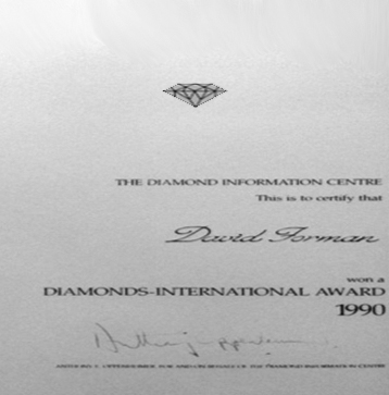 Diamonds International Awards Winner 1990