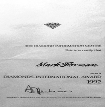 Diamonds International Awards Winner 1992