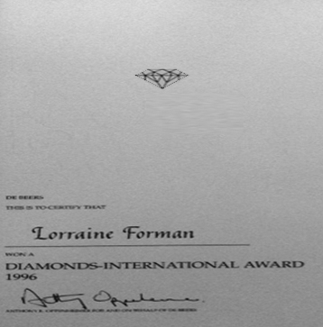 Diamonds International Awards Winner 1996